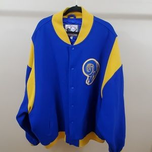 Los Angeles Rams Mitchell & Ness Throwback Jacket